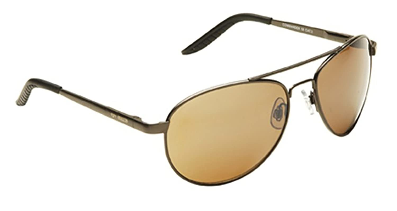 EYE LEVEL Sunglasses Mens + Ladies Retro Classic Metal Designer Aviator + Case Gold Brown