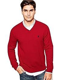 Ralph Lauren Men's Polo V-Neck Pima Cotton Pony Logo Sweater
