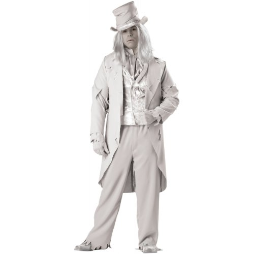 [InCharacter Costumes Men's Ghostly Gent Costume, Gray, XX-Large] (Adult Ghost Groom Costumes)