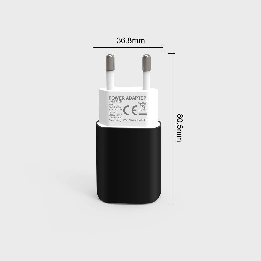 Samsung Galaxy S9 S8 HTC Nexus Tablet und Mehr 20W Home Reise Universal Portable USB Wall Charger f/ür iPhone X 8 7 7 Plus 6S Mini iPad Air LG Sony 4 Port USB Ladeger/ät Wand Ladeadapter