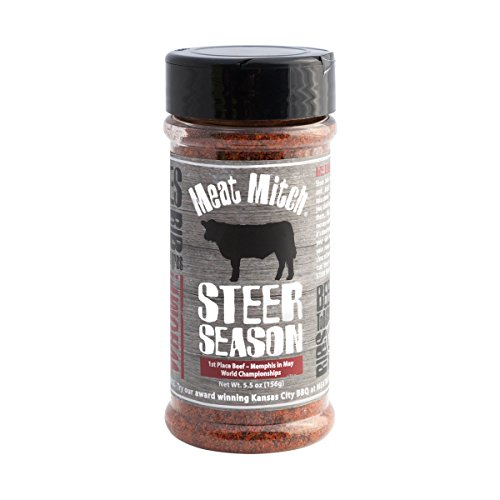 Meat Mitch Steer Season Beef Seasoning, 6.2 Ounce - Memphis in May World Championship Winning BBQ Rub]()