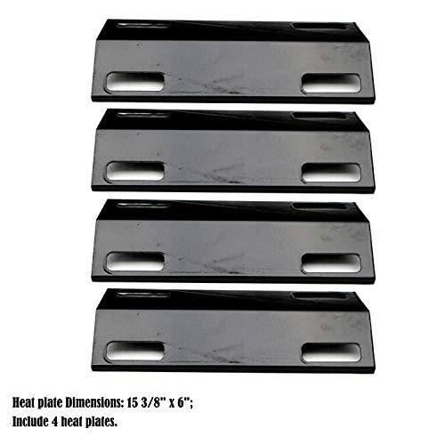 (Direct store Parts DP122 (4-Pack) Porcelain Steel Heat Shield/Heat Plates Replacement Ducane/Ducane Affinity Series Gas Grill Models)