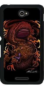 Funda para Sony Xperia E4 - Dragón (diseño De La Firma) by Adamzworld