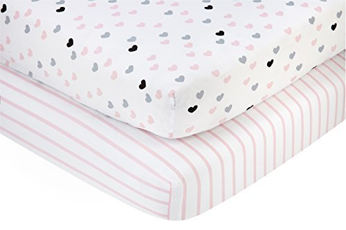 Little Love by NoJo 2 Piece Sheet Set Hugs and Kisses [並行輸入品]   B077M3XYLW