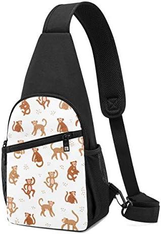 動物 猿 ショルダーバッグ 斜めがけ 胸 かばんトートバッグ チェーンバッグ デート 旅行 ボディバッグ トップハンドルサッチェル 面白い バッグ ショルダーベルト 防水 撥水 軽量 収納可能 レディース
