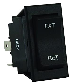 JR Products 13635 Black 5th Wheel/Tongue Jack Switch
