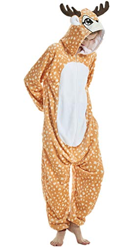 Foresightrade Adults and Children Animal Cosplay Costume Pajamas Onesies Sleepwear (L fit for Height 165-175CM (65
