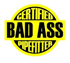 Amazoncom Certified Bad Ass Pipefitter Funny Hard Hat - Badass vinyl decal stickers
