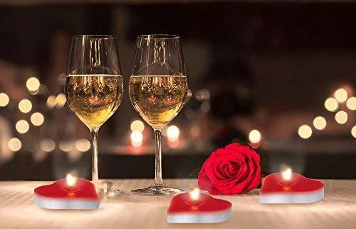Camere Da Letto Romantiche Con Petali Di Rosa : Kit romantico di candele e petali candeline a forma di cuore