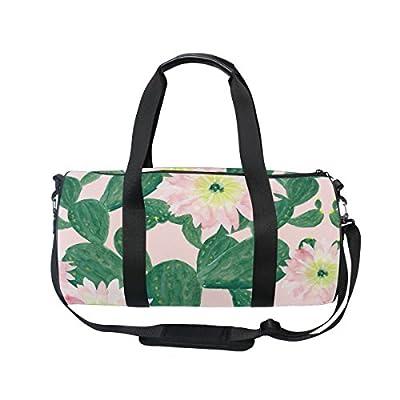 c7fe481d38 lovely ALAZA Watercolor Cactus Flowers Sports Gym Duffel Bag Travel Luggage  Handbag for Men Women