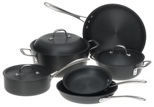 amazoncom calphalon ds9dc commercial 9piece cookware set kitchen u0026 dining