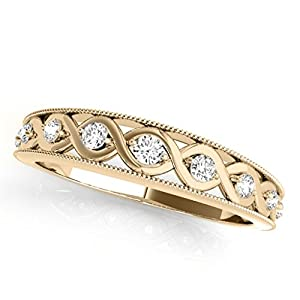 0.15 Ct. Diamond Women's Wedding Band In 14K Yellow Gold