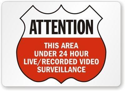 Esta zona bajo 24 hora Live/cartel de vigilancia de vídeo ...