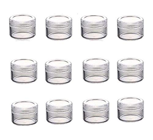 24Pcs 5g Empty Refillable Clear Plastic Small Round Bottles Cosmetic Face Cream Lip Balm Sample Packing Storage Container Vial Jars Perfect For Travel