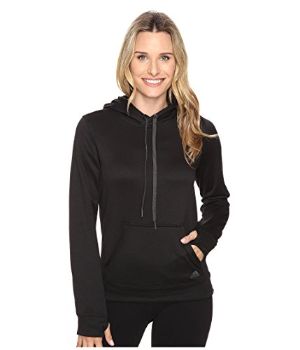 Adidas  mujer 's Ultimate Fleece Pullover Hoodie negro / colored Heather