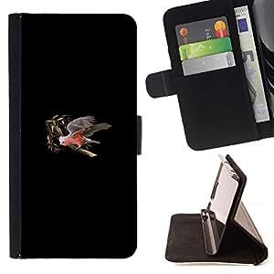 Momo Phone Case / Flip Funda de Cuero Case Cover - Minimalista Parrot Tree;;;;;;;; - Samsung ALPHA G850