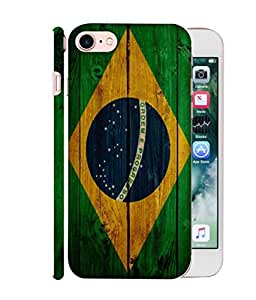 ColorKing Football Brazil 05 Multicolor shell case cover for Apple iphone 7