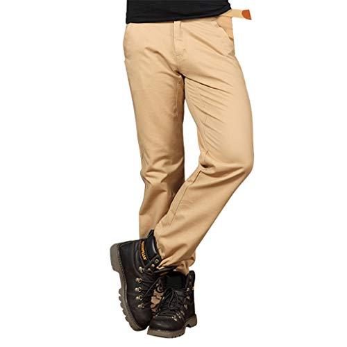 Tactical Pants Men's Summer Loose Pure Cotton Straight Barrel Pure Color Pant