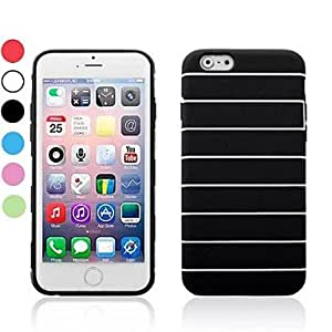 TOPAA Stripes Style Pattern Flexible TPU Cover for iPhone 6(Assorted Colors) , Black