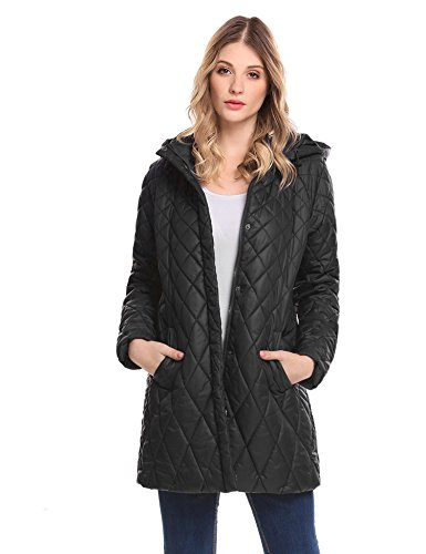 Quilted Hooded Long Down Jacket - 2