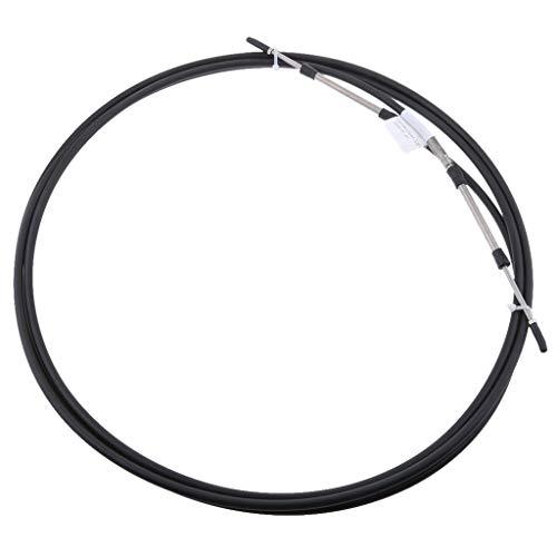 Homyl Cable de Control de Acelerador Facíl Instalar Duradero para Suzuki Volvo Outboard - Negro 10 pies