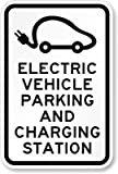 Electric Vehicle Charging Station Sign, 18'' x 12''