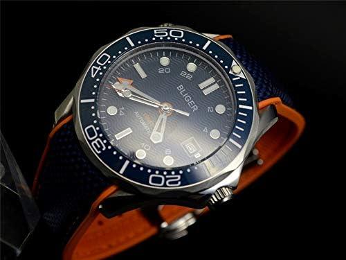 Tickwatch Bliger Montre mécanique Automatique 41 mm GMT Master Saphir Bleu Lunette en céramique en Acier Inoxydable pour Homme