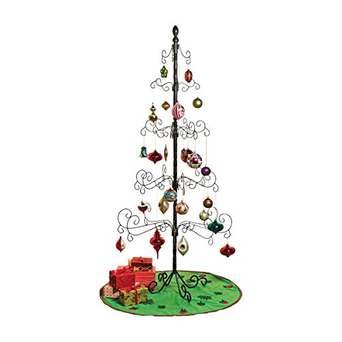 Kalalou Wrought Iron Christmas Ornament Display Tree - 83""