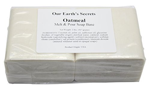 Oatmeal- 2 Lbs Melt and Pour Soap Base - Our Earth's Secrets (Best Oatmeal Soap Recipe)