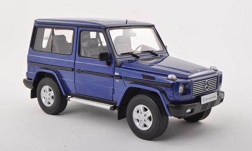 Mercedes G-Model SWB, met.-dkl.-blau, 1998, Modellauto, Fertigmodell, AUTOart 1:18