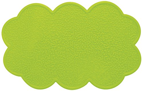 MSV Non-Slip Clouds Mats, Green, Set of 4
