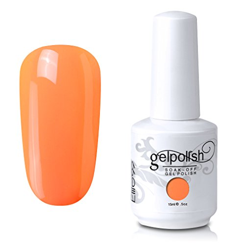 Elite99 Soak-Off UV LED Gel Polish Nail Art Manicure Lacquer Light Orange 809 15ml