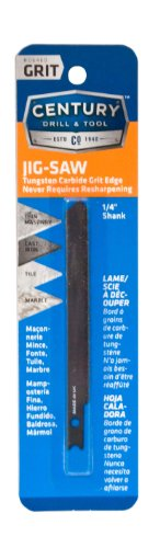 (Century Drill and Tool 6460 Universal Shank Carbide Grit Jig Saw Blade, 3-5/8-Inch)
