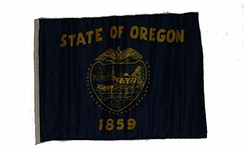 ALBATROS 12 inch x 18 inch State of Oregon 2ply Double Sided Sleeve Flag for use on Boat, Car, Garden for Home and Parades, Official Party, All Weather Indoors Outdoors -