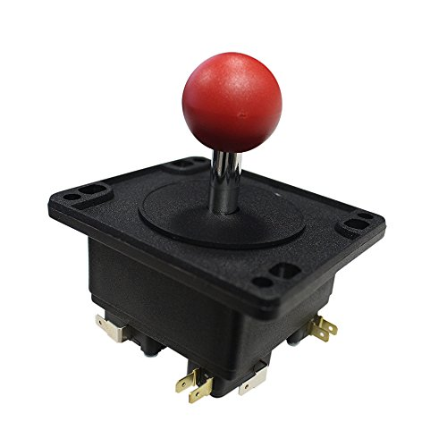 - Suzo Happ Round Universal Joystick with Microswitches - Red