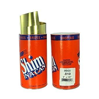 0.001-0.024 Brass Shim Stock 6/″ x 100/″ Roll 0.020 CPM