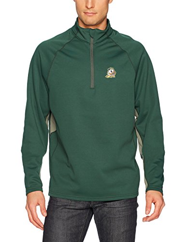 (NCAA Oregon Ducks Men's Ots Poly Fleece 1/4-Zip Pullover, Large, Dark Green )