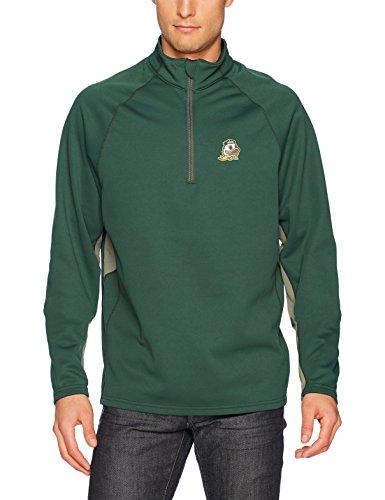 (NCAA Oregon Ducks Men's Ots Poly Fleece 1/4-Zip Pullover, Medium, Dark)