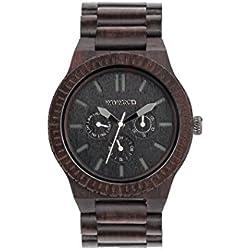 WeWood Men's Kappa Black Wooden Watch
