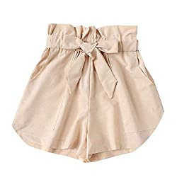 Hot Ladies Shorts Women Summer Shorts Women Hot Sexy Short Pants Beige S
