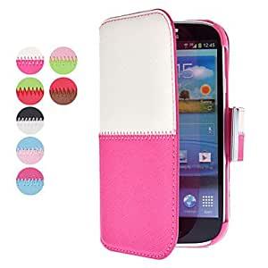 Simple Design PU Leather Case with Card Slot for Samsung Galaxy S3 I9300 (Assorted Colors) --- COLOR:Blue