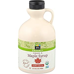 365 Whole Foods Market, Organic Pure 100% Grade A Maple Syrup, Dark Color Robust Taste, 32 Fl Oz (Packaging May Vary)