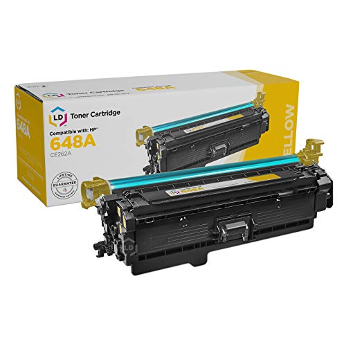 LD Remanufactured Toner Cartridge Replacement for HP 648A CE262A - Yellow Cartridge 648a