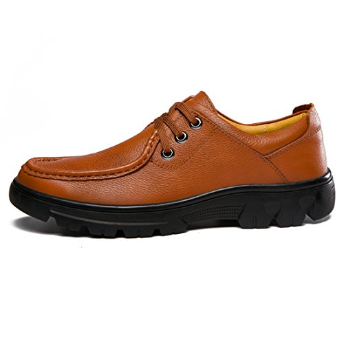 Minitoo Boys Mens Round Toe Padded Comfort Walk Fashion Sneaker Light Brown