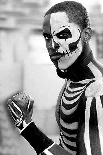 Home Comforts Canvas Print Scary Halloween Skeleton Face Painting Male Model Vivid Imagery Stretched Canvas 10 x 14 -