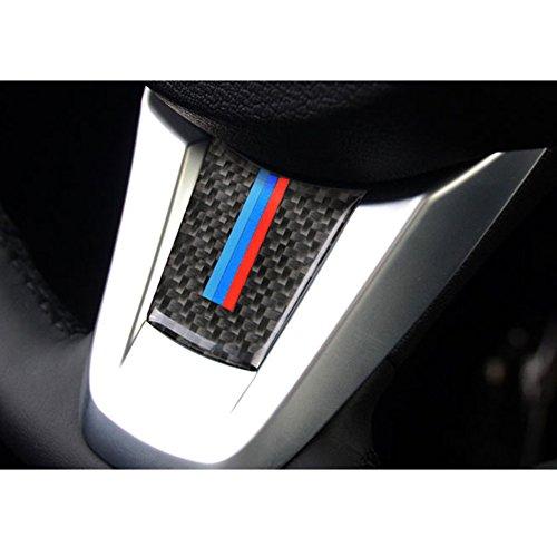 S-WEKA S-WEKA Carbon Fiber Steering Wheel Sticker M stripe Emblem 3D Car Sticker for BMW Z4 e89 2009-2015 Accessories (Stickers Wheel Stripes)