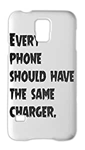 Every phone should have the same charger. Samsung Galaxy S5 Plastic Case