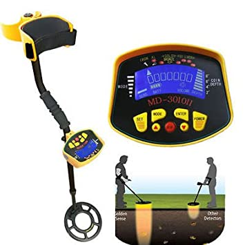 Amazon.com : MD-3010II Metal Detector Gold Digger Light Hunter Deep Sensitive Search LCD : Garden & Outdoor