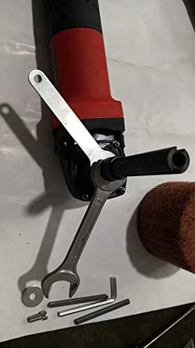 Abrasive Wheel Grit 320 and conversion adapter make 5//8-11 Thread hand held grinder become Burnisher Burnishing Machine wire drawing metal polish rust paint remove grinder collar between 41-48 MM
