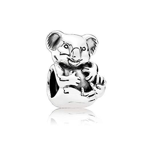 ly Koala Bear Baby Charm 925 Sterling Silver Animal Bead for Pandora Bracelet ()